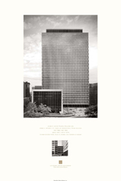 poster of Jacob K. Javits Federal Building & James L. Watson U.S. Court of International Trade Building, New York, New York