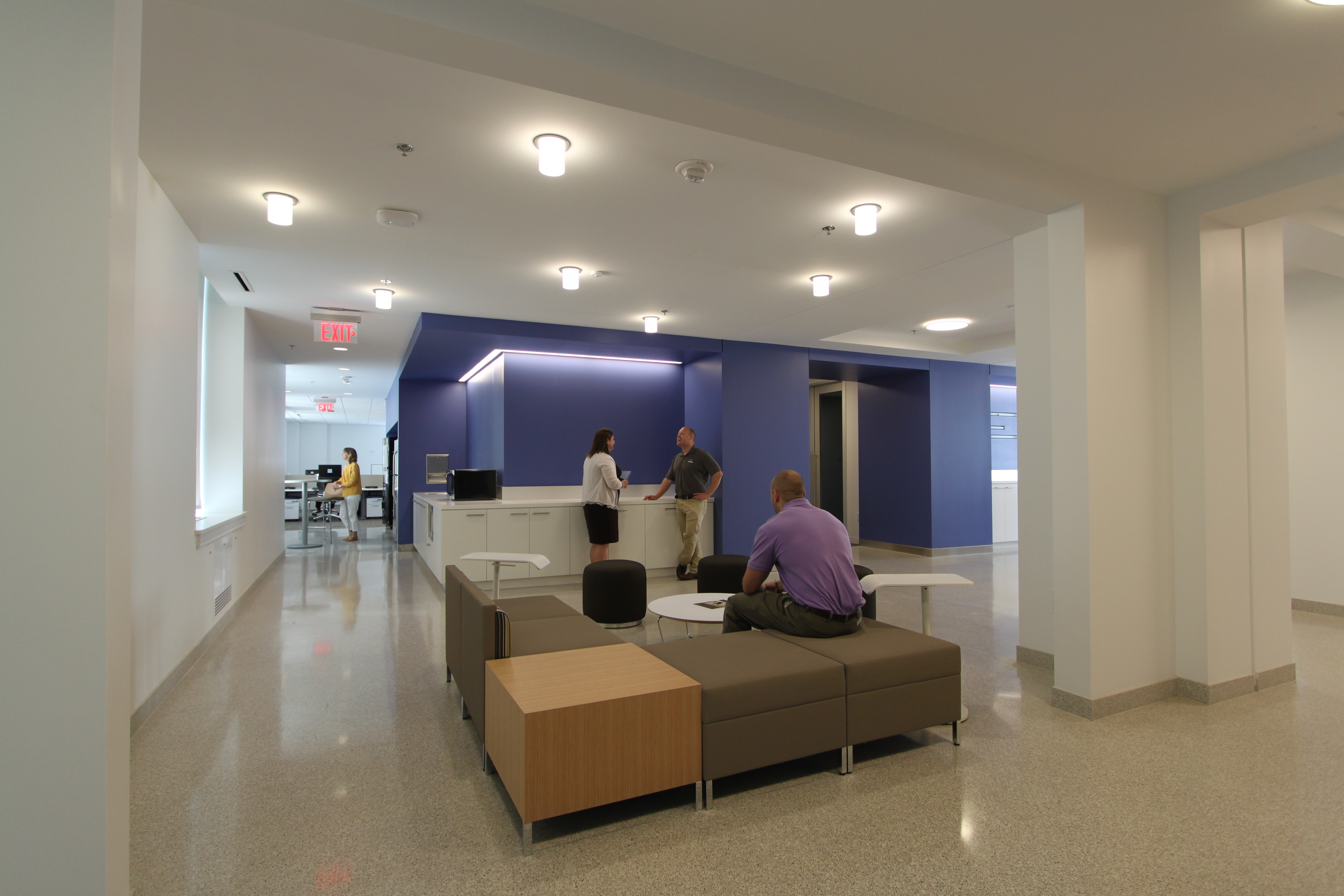 Remodeled open workspaces inside the GSA Headquarters, 2013.
