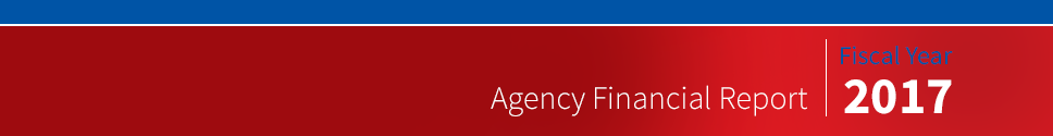 Banner for Fiscal Year 2017 Agency Financial Report