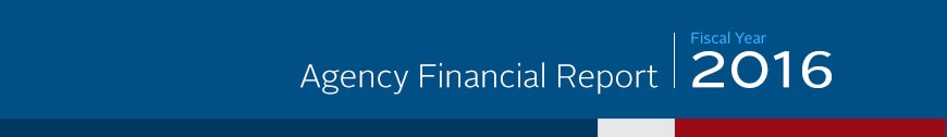 2016 Agency Financial Report Banner - Mobile Version