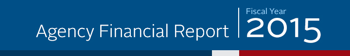 2015 Agency Financial Report Banner - Mobile Version
