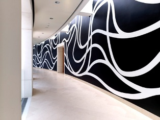 Sol LeWitt, Wall Drawing #1259: Loopy Doopy, U.S. Courthouse, Springfield, Massachusetts Photograph: Carol M. Highsmith