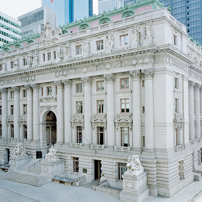 Exterior, Alexander Hamilton US Custom House, New York, NY. An example of Beaux Arts style architecture.