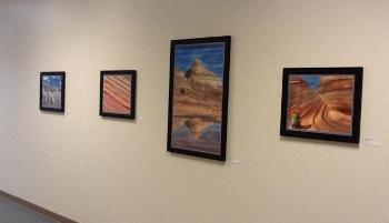 Image of framed art by Joshua Hicks a Building 810 tenant
