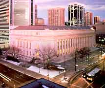 Exterior sky view: Byron White U.S. Courthouse, Denver, CO