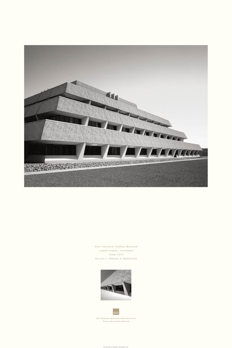 poster of the Chet Holifield Federal Building, Laguna Niguel, CA
