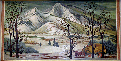 "Ethel and Jenne (Chavez) Magafan, ""Mountains in the Snow."