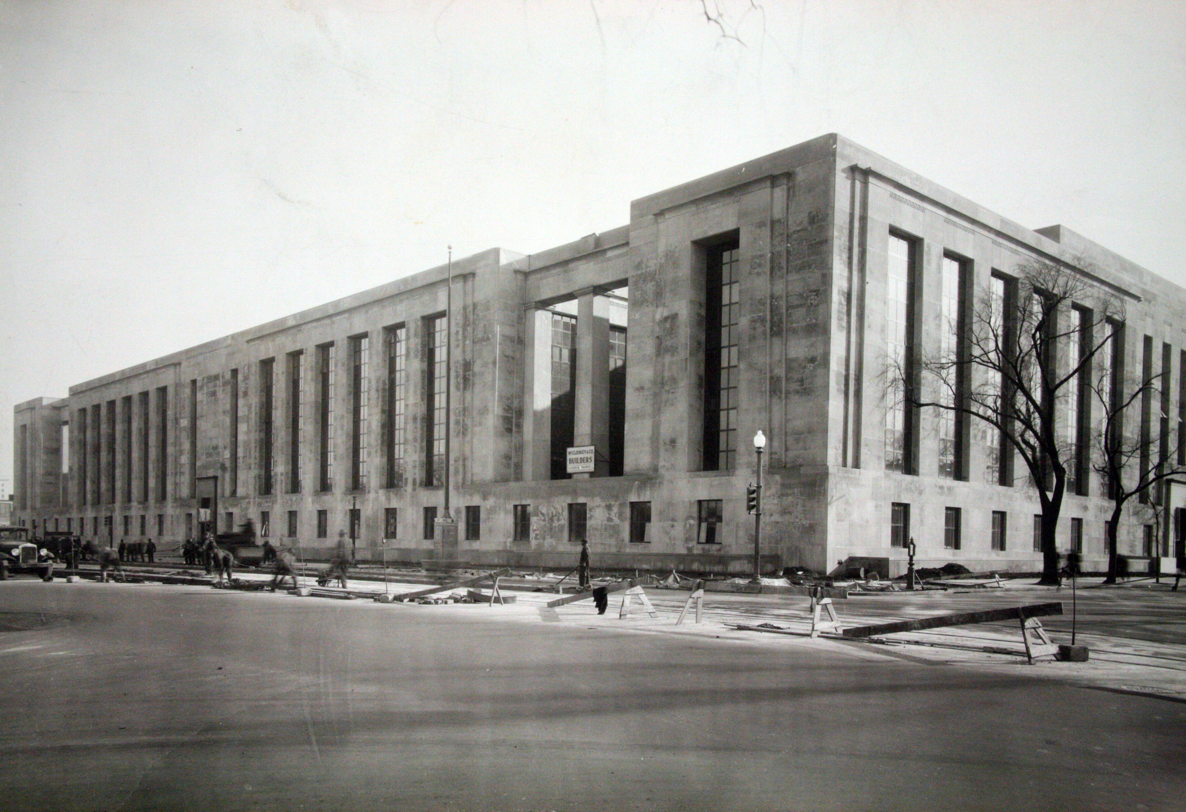 Wilbur J. Cohen Federal Building, View of Building Construction from the Corner of C and 3rd Streets SW, 1940.