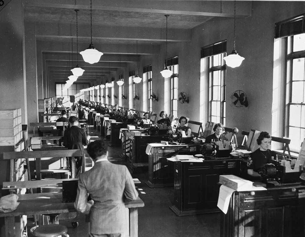 Open office space, c. 1931.