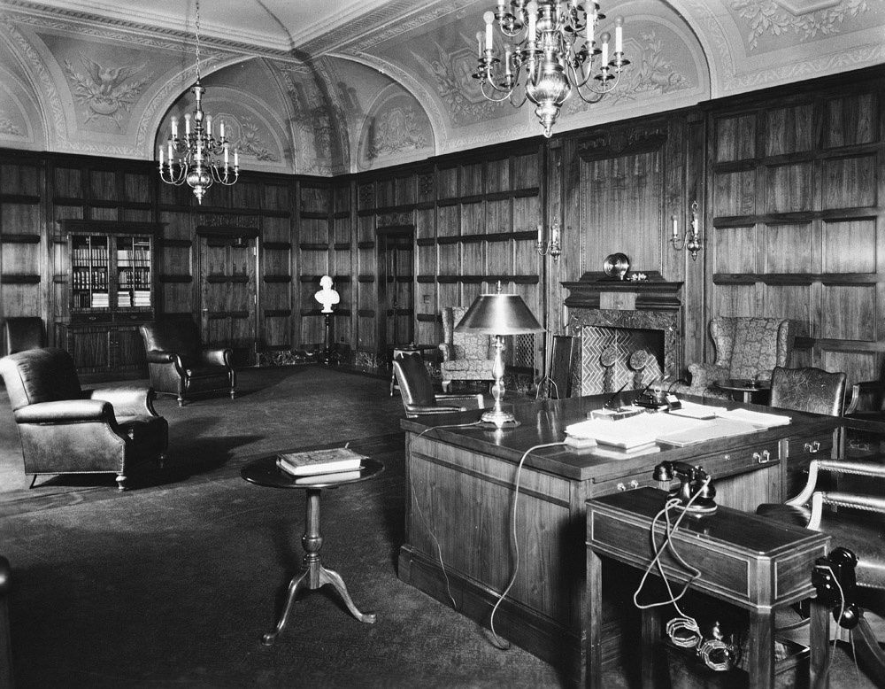 View of the Secretary's Suite, c.1931.
