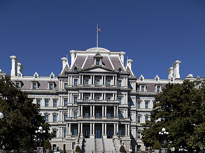 Exterior: Eisenhower Executive Office Building, formerly the State, War, and Navy Department Building.