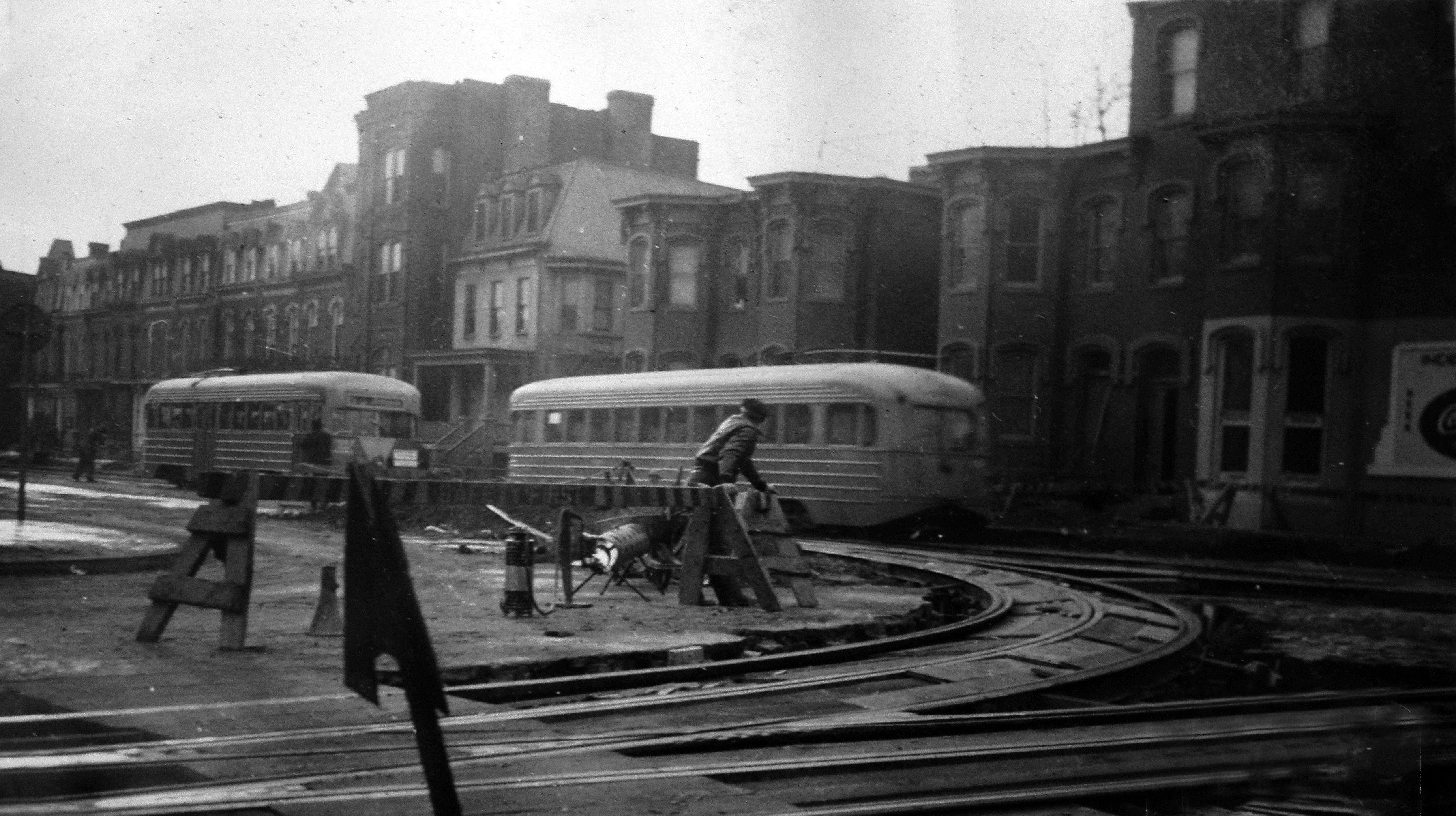 600 block of Independence Avenue, c. 1941. This site would later become the home of FOB 10B. Residential row houses seen here are typical of the area in this era.