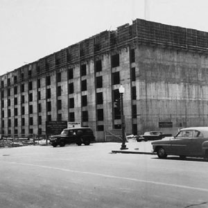 Construction of the O'Neill Federal Building, c. 1964.