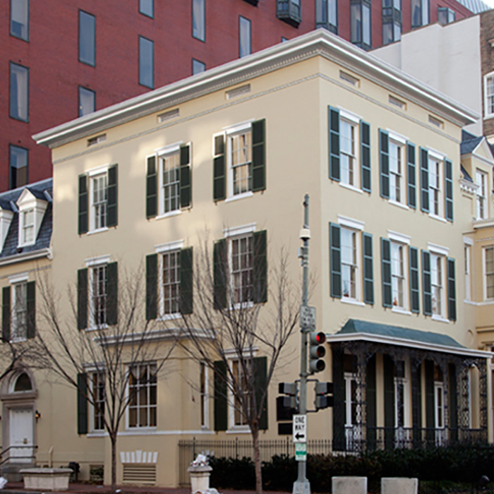 Exterior, Dolley Madison House, Washington, DC. An example of Federal style architecture