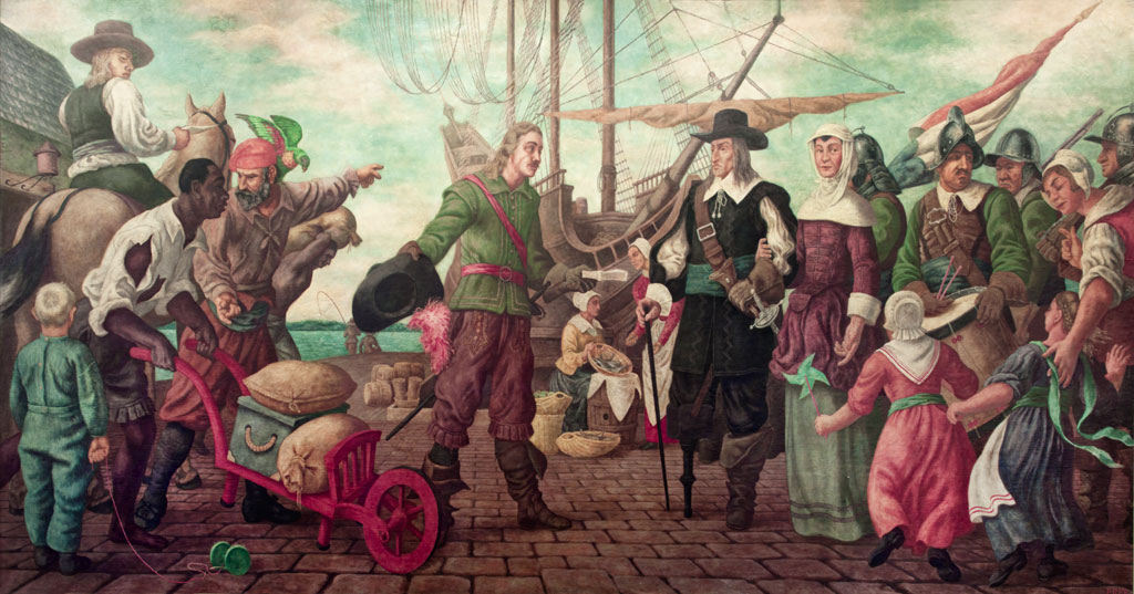 Arrival of the Mail in New Amsterdam