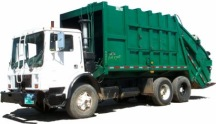 Image of a waste disposal vehicle