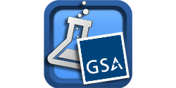 GSA logo and glass beaker