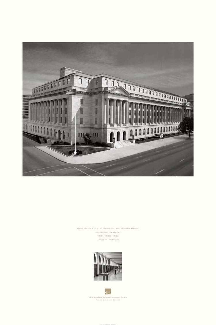poster of the Gene Snyder U.S. Courthouse and Custom House, Louisville, KY