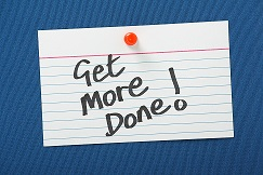 Get More Done written on a note card