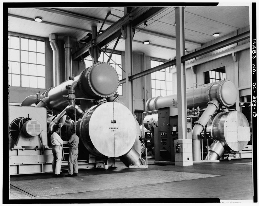 Central Heating Plant, Interior 'Chiller No. 2.'