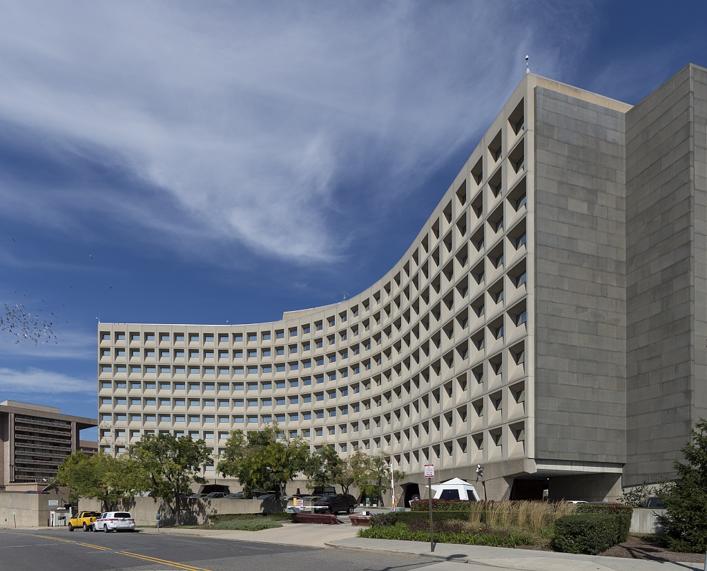 The Robert C. Weaver Federal Building, looking on from 7th Street & Frontage Road, Southwest.