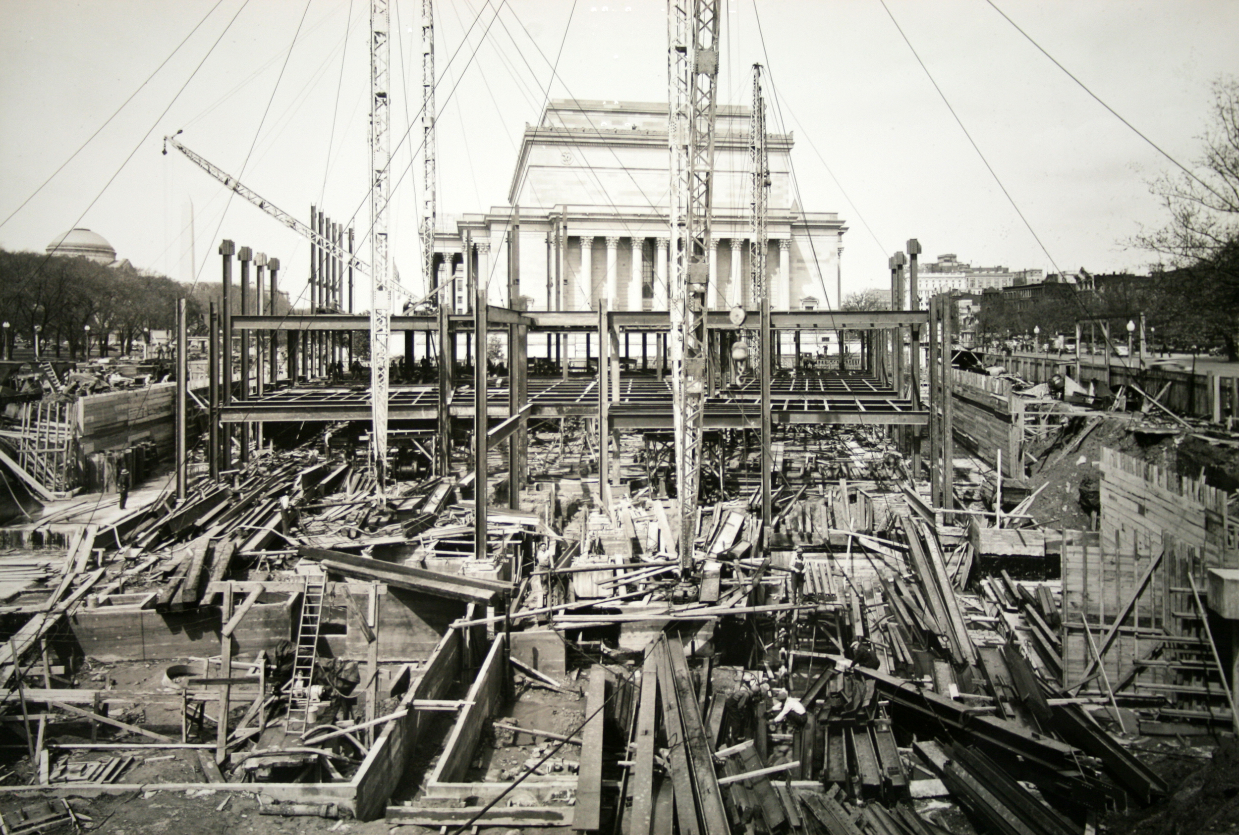 Framing of the FTC building, C. 1937.