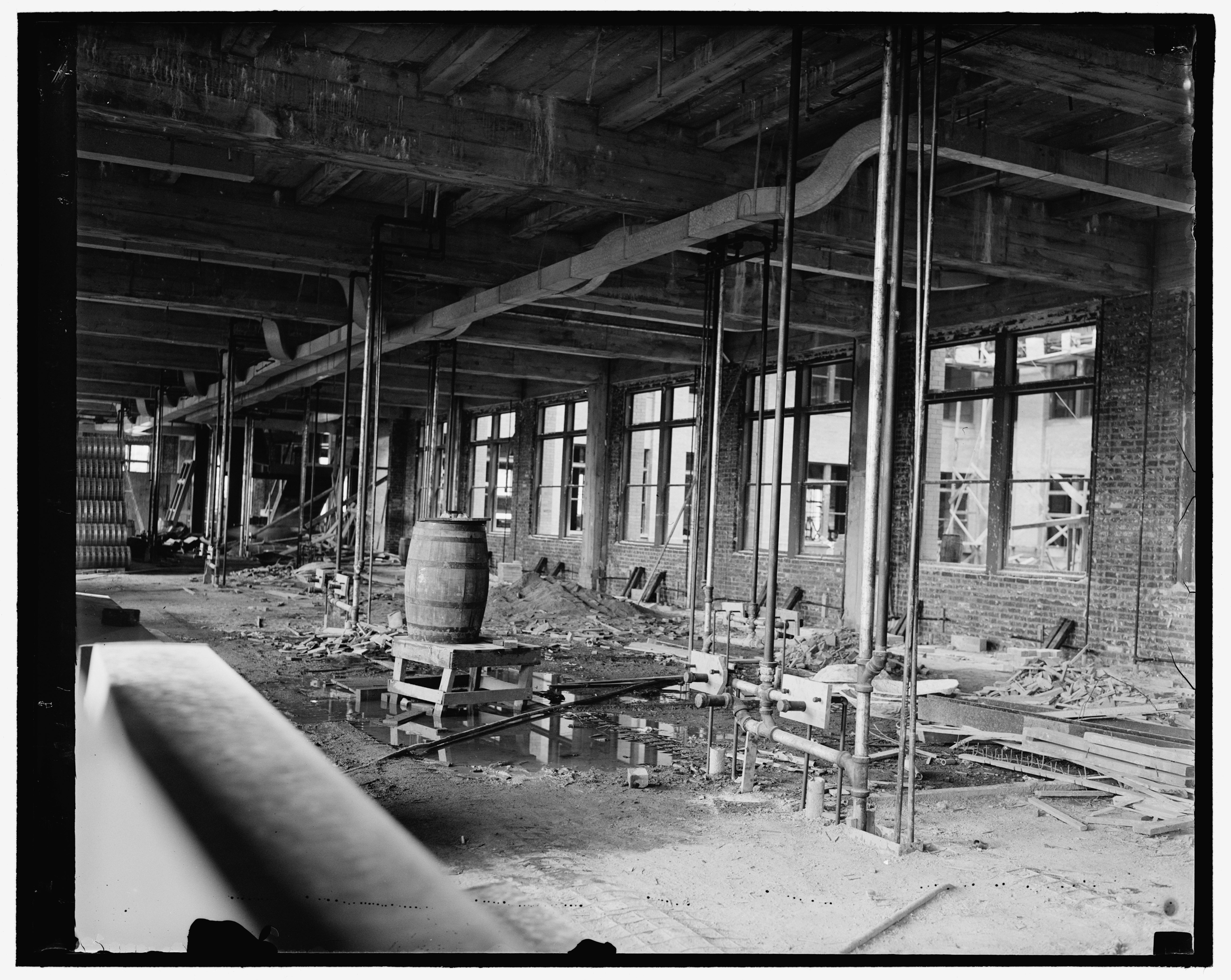 Interior construction of the FTC building, c. 1938.