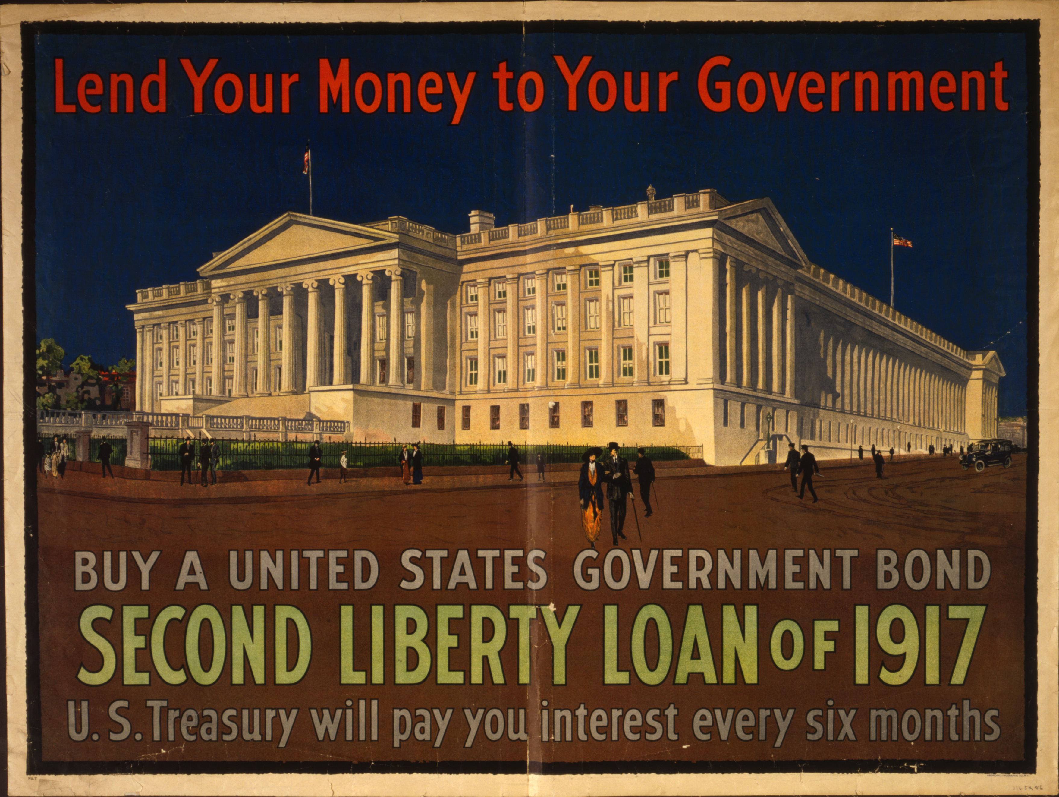 Advertisement for second Liberty Loan campaign, 1917.