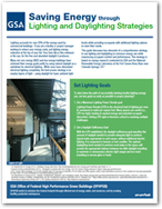 Click to download the Saving Energy through Lighting and Daylighting Strategies factsheet
