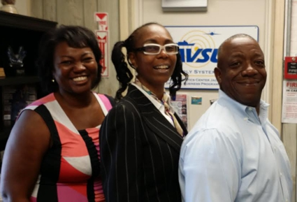 Laticia Little, Customer Accounts and Research (CAR) Customer Service Director; Dhana Moore, NSD Business Relationship Director (Detail); and Gregory Foster, NSD Contracting Officer.
