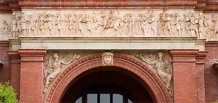 Archway at the National Building Museum, also knows as the U.S. Pension Building