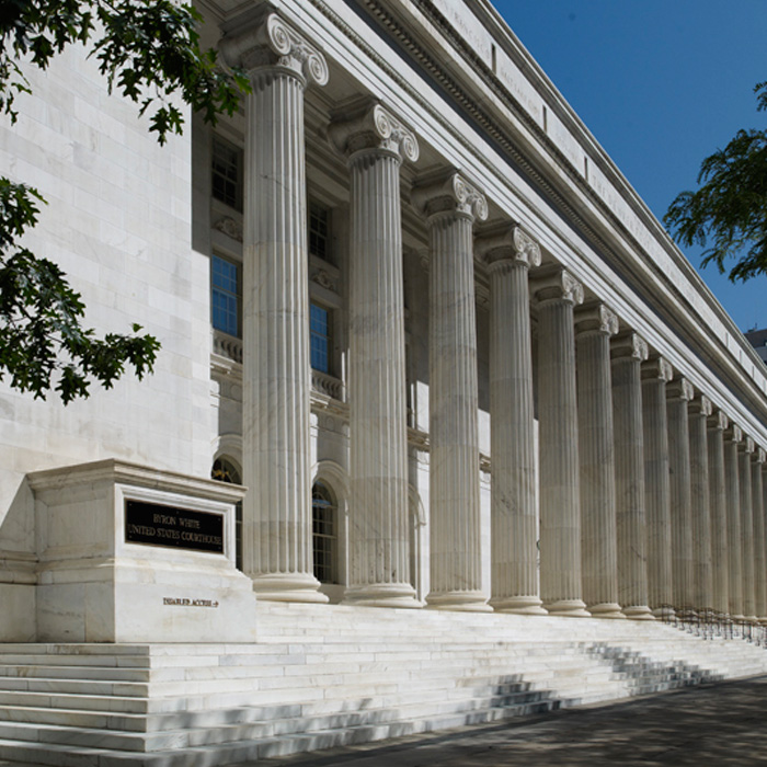 Exterior, Byron R. White US Courthouse, Denver, CO. An example of NeoClassicism style architecture.