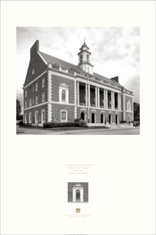 Poster of the exterior of U.S. Post Office and Courthouse, New Bern, North Carolina