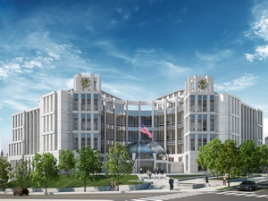 New Nashville,TN US Courthouse, SW elevation, rendering