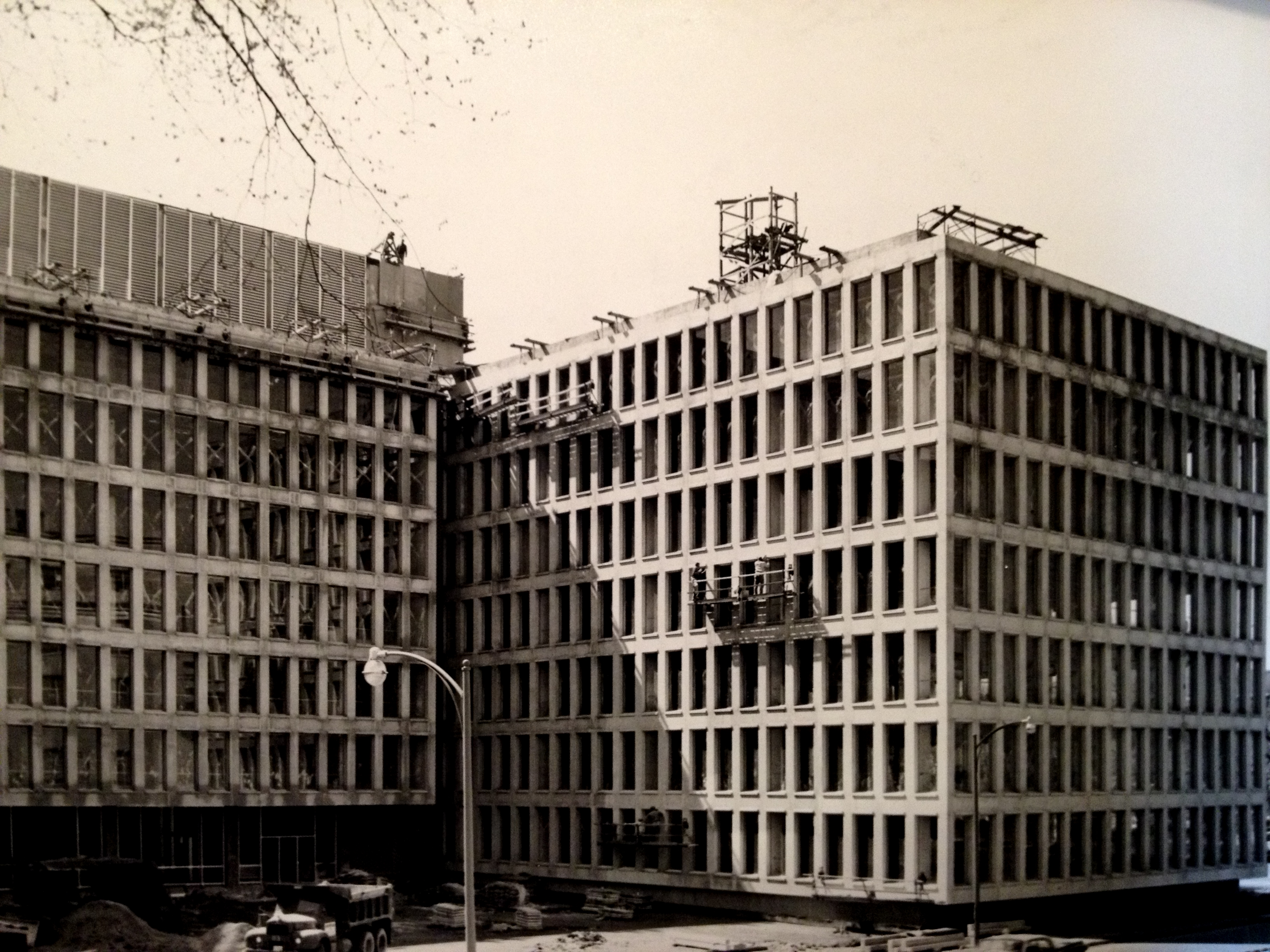 Construction photograph, c. 1963.