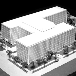 Architectural model, proposed Federal Office Building 9, c. 1963.
