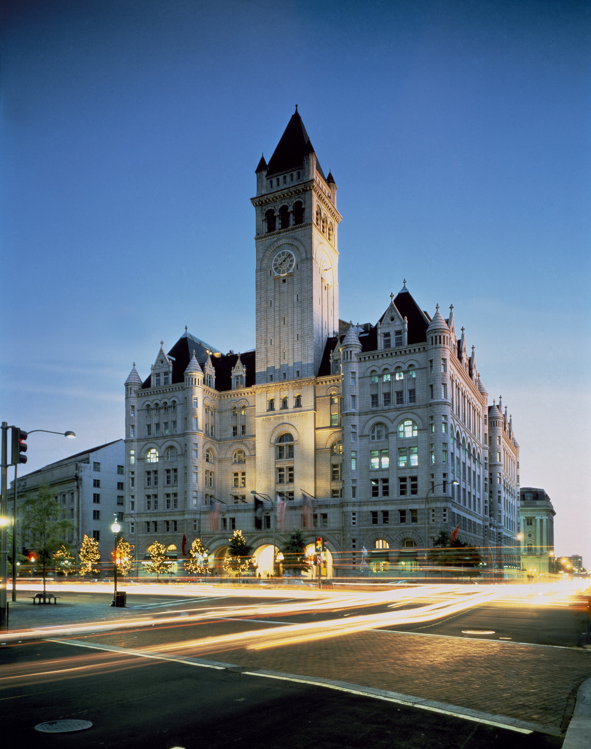 Old Post Office, facing Pennsylvania Avenue.