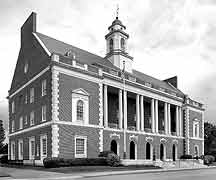 Exterior:  U.S. Post Office and Courthouse, New Bern, North Carolina
