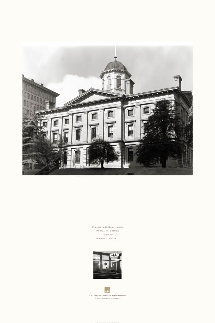 poster of the Pioneer U.S. Courthouse, Portland, OR
