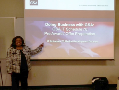 GSA's Cheryl Thornton presenting IT 70
