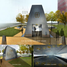African Burial Ground Exterior Memorial Rendering Image Two 216x216 pxl