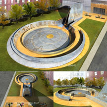 African Burial Ground Exterior Memorial Rendering Image Three 216x216 pxl