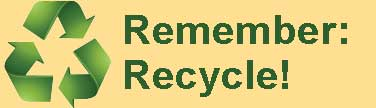 Notice to Remember to Recycle