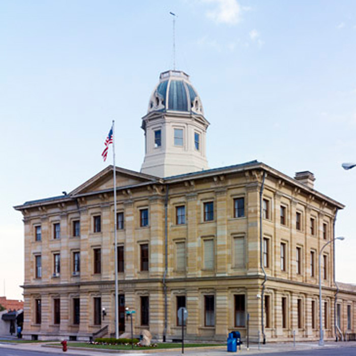 Exterior, Federal Building and US Courthouse, Port Huron, MI. An example of Renaissance Revival style architecture.