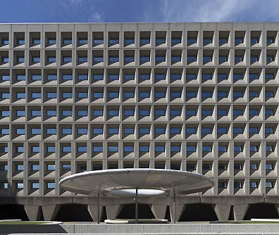 Exterior, Robert C. Weaver Federal Building, HUD headquarters, Washington DC