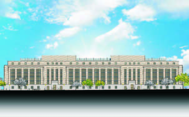 A rendering of the recent modernization of Mary E. Switzer Federal Building completed in 2009.