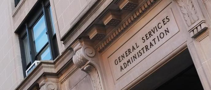 GSA HQ building and 70th anniversary logo