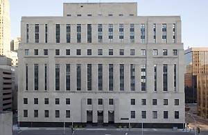 Exterior, Theodore Levin U.S. Courthouse, Detroit, MI