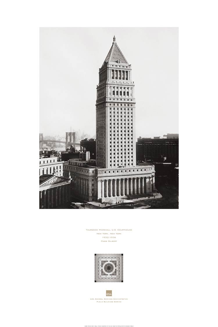 poster of the Thurgood Marshall US Courthouse, New York, NY