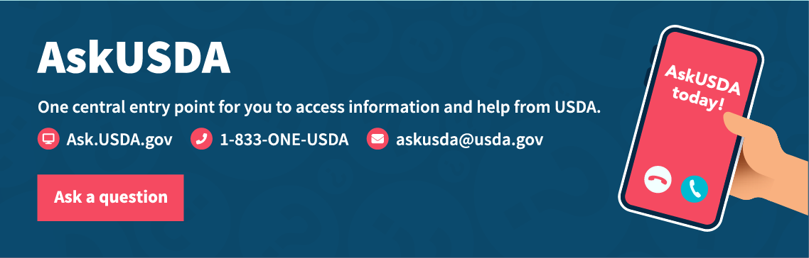 Ask USDA Info Graphic